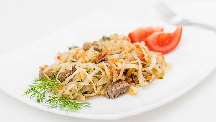 Как приготовить говядину с капустой