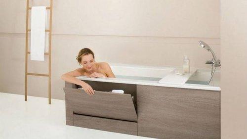 Как красиво оформить пространство под ванной