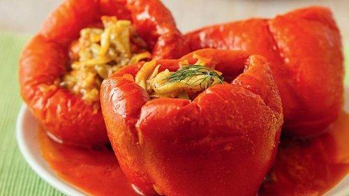 Рецепт фаршированного баклажанами перца