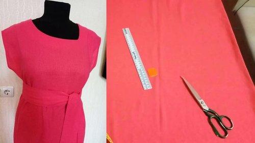 Как сшить платье с цельнокроеным рукавом