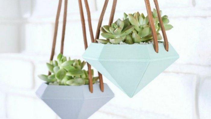 Как сделать подвесные горшки для растений