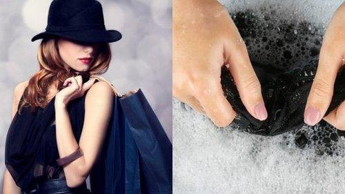 Как правильно стирать одежду черного цвета