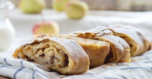 Рецепт имбирного рулета с яблоками и орехами