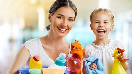 Милые дети и муж, вы убираете в доме не для мамы