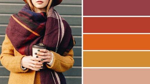 Как правильно сочетать цвета в одежде этой осенью