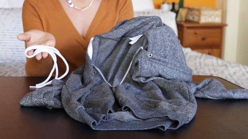 Как продеть шнурок в одежду менее чем за две минуты